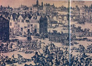 In die nag van 24 Augustus 1572 het die bloedige vervolging van die Protestantse Hugenote in Frankryk begin. Dit was op Sint Bartolomeus-nag, 'n Rooms-Katolieke gedenkdag. Duisende Hugenote oor die hele Frankryk is die nag en die volgende dae gruwelik vermoor. Honderde duisende het uit die land gevlug. Dit was die begin van die vervolging van die Protestante oor die hele Europa wat onder die Rooms-Katolieke Kerk gestaan het. Van die Hugenote wat na die Nederlande gevlug het, het in 1688 en later na die Kaap die Goeie Hoop gekom om 'n nuwe lewe in 'n nuwe vaderland te begin.