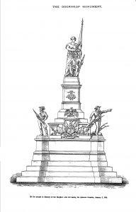 Anton van Wouw het hierdie skets gemaak van 'n monument wat op die slagveld van Doornkop te Vlakfontein, Roodepoort-Suid, opgerig sou word. Die uitbreek van die Anglo-Boereoorlog in 1899 het dit egter voorkom en die monument is nooit gemaak nie.