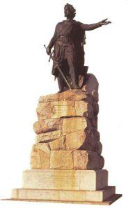 """William Wallace, Skotse rebel teen Engelse oorheersing. In die voortreflike rolprent """"Braveheart: word sy vryheidstryd treffend uitgebeeld."""